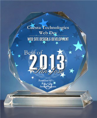 Best of San Jose Award in the Web Site Design & Development category in 2012 & 2013